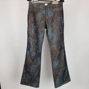 Vintage Cache Shimmer Floral Hippy Jeans
